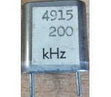 Krystal 4915,2kHz HC-33