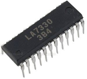 LA7330 - IN-IC,VHS-HQ chroma sig.proc.DIP24
