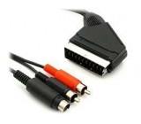 Kabel scart-S VHS+2xCinch stereo 6m DOPRODEJ