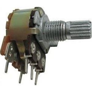 10k/N, WH148, hřídel 6x15mm, potenciometr otočný s vypínačem