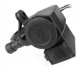 Zásuvka 12V+USB pro motocykl vodotěsná