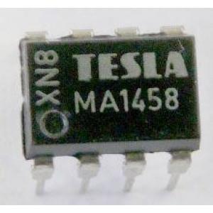 MA1458 2xbipolární OZ TESLA DIP8