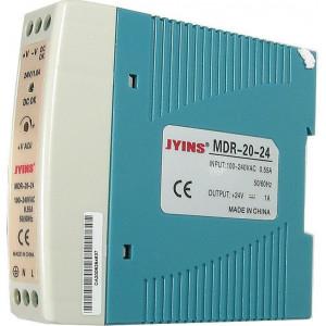 Průmyslový zdroj 24V=/20W spínaný MDR-20-24 na DIN lištu