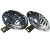 Houkačka, klakson 12V, 115dB/m, 2ks, disk 125mm, DOPRODEJ