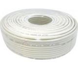 Koax 75ohm RG6-U CCS, 6,8mm, bílý, balení 100m