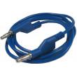 Propojovací kabel 1mm2/ 1m s banánky modrý