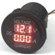 Voltmetr+ampérmetr panelový DS8010, rozsah 8-30V / 0-20A