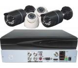 Kamerový systém 720P JW104K-V10 (DVR+4kamery CMOS)-bez vzdál.přístupu