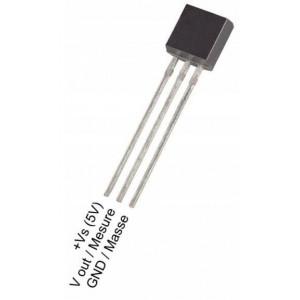 LM35DZ - teplotní senzor 0-100°C, TO92