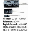 0,22u/63V N.A 5x11x2mm, elektrolyt.kondenzátor radiální