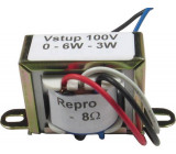 Převodní transformátor 100V/3-6W, pro repro 8ohm