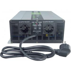Měnič napětí+UPS+nabíječ 24V/230V/1500W, Soluowill NPS1500, čistá sin.