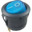 Vypínač kolébkový MIRS101-8, ON-OFF 1p.250V/6,5A modrý, prosvětlený