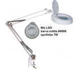 Stolní lupa LED 8606CL, 8 dioptrií, uchycení svorkou