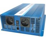 Měnič napětí 24V/230V 3000W, CARSPA SK3000, čistá sinus. D.O.drátové