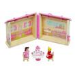 Dřevěný přenosný domeček pro panenky, DOPRODEJ