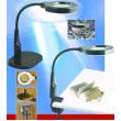 Stolní lupa 9145 bifokální 3D+8D, 24x LED, podstavec i svorka,černá