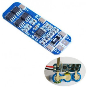 Ochranný obvod a balancér pro 3 Li-Ion články 18650, proud do 8A
