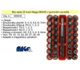 """Sada bitů-bezpečnostní a speciální, 33ks 1/4""""/25mm, MAGG"""