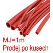 Smršťovací bužírka 6,0/3,0mm červená, balení 1m