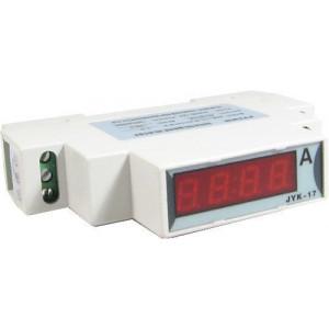 JYK-17-ampermetr LED 100A~ na DIN lištu, napájení 8-12V~=