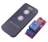Dálkové ovládání, vysílač+přijímač IR, napájení přijímače 5V