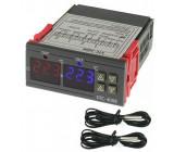 Digitální termostat duální - STC-3008 rozsah -55°C~120°C, 230V AC