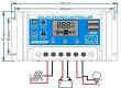 Solární regulátor PWM KLX1220 12V/20A+USB pro různé typy baterií