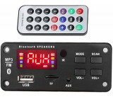 FM rádio, přehrávač MP3 s bluetooth 5.0, dálkové ovládání, napájení 5V