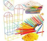 Kreativní stavebnice v boxu- stavění ze slámek 680 ks