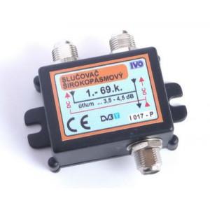 Slučovač 2x hybridní širokopásmový 1-69.k IVO I017-PF