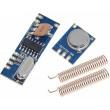 Dálkové ovládání, vysílač+přijímač 433MHz, modul STX882+SRX882