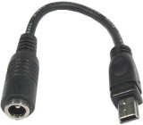 Redukce DC 2,1mm-USB (B) mini konektor na káblíku 10cm