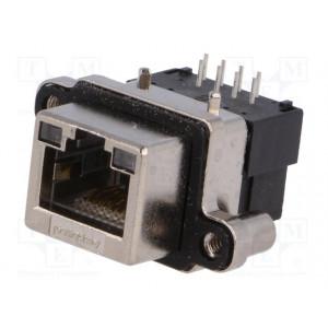 Konektor RJ45 zásuvka UL94V-0 IP67 THT do panelu úhlové 90°