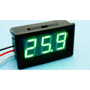 LED voltmetr digitální panelový se zelenými písmeny