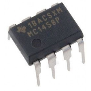 LM1458 2xbipolární OZ (MC1458) DIP8