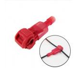 Procvakávací svorka s fastonem červená pro kabel 0.5-1mm