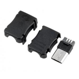 Micro USB konektor rozebíratelný pájecí na kabel