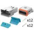 Konektor vodič-vodič AT vidlice + zásuvka 16-18AWG 12PIN
