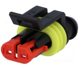 Konektor vodič-vodič Superseal 1.5 zástrčka zásuvka 2PIN