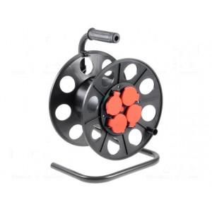 Navíjecí buben pro kabel se zásuvkou Zásuvky: 4