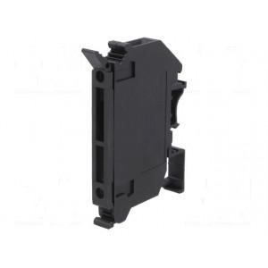 Pouzdro trubičkové pojistky 5x20mm na DIN lištu 6,3A 250V