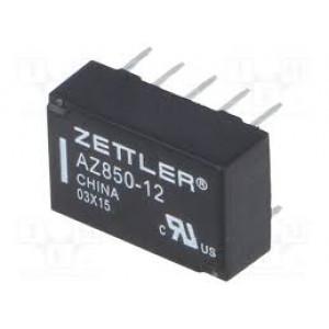 AZ850-12 Relé elektromagnetické DPDT Ucívky:12VDC 0,5A/125VAC 1A 50VA