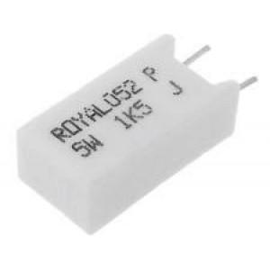 Rezistor drátový tmelený THT, svislá 1,5K 5W ±5% 12,5x9x25mm