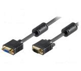 Kabel D-Sub 15pin HD vidlice, D-Sub 15pin HD zásuvka 2m