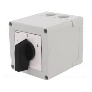 Přepínač vačkový reverzační 3 polohy 16A 1-0-2 Poč.pólů:3