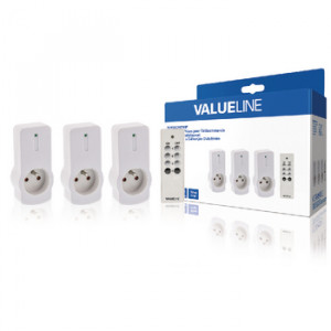 Spínací zásuvky 3x zásuvka 1x DO Valueline