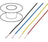 Kabel UL1007 licna Cu 26AWG PVC modrá 300V 21m