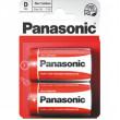 Baterie PANASONIC R20 RED Zinc 1,5V blistr 2ks