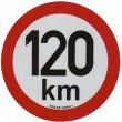 samolepka rychlosti REFLEXNÍ 120 km průměr 20 cm